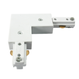 Knightsbridge TRKRAW 230V Track L Right Angle Connector White