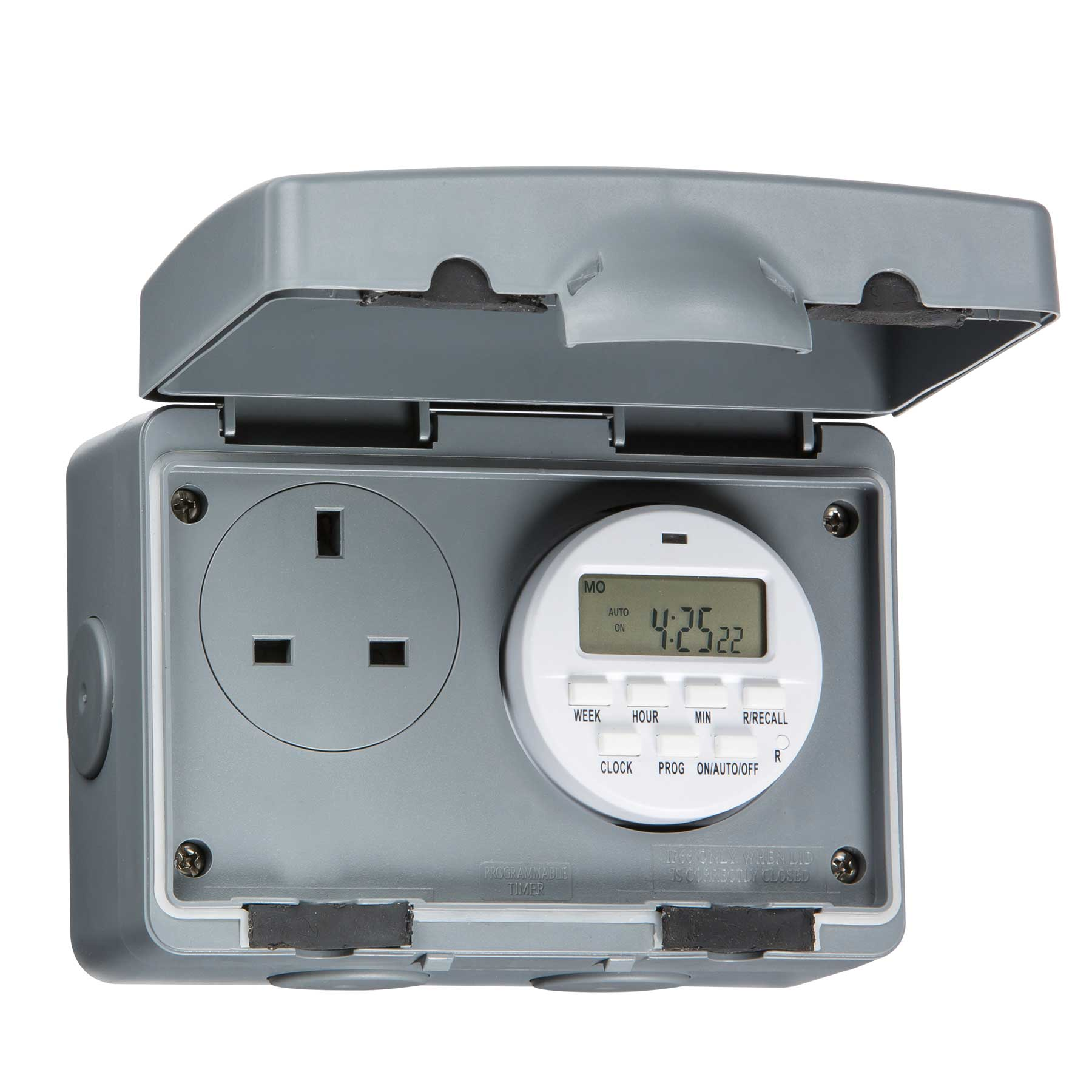Knightsbridge Ip7000d Ip66 13a Outdoor Socket With 7 Day Digital Wiring A Spur Timer