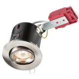 Knightsbridge VFRSGICCBR Tilt Fire Rated  Downlight - Gimbal - B/Chrome
