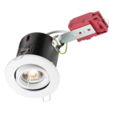 Knightsbridge VFRSGICW Tilt Fire Rated  Downlight - Gimbal - White