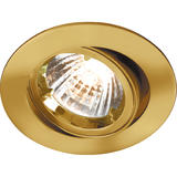 Knightsbridge RD2B Tilt Brass Twist-Lock Downlight GU10/MR16