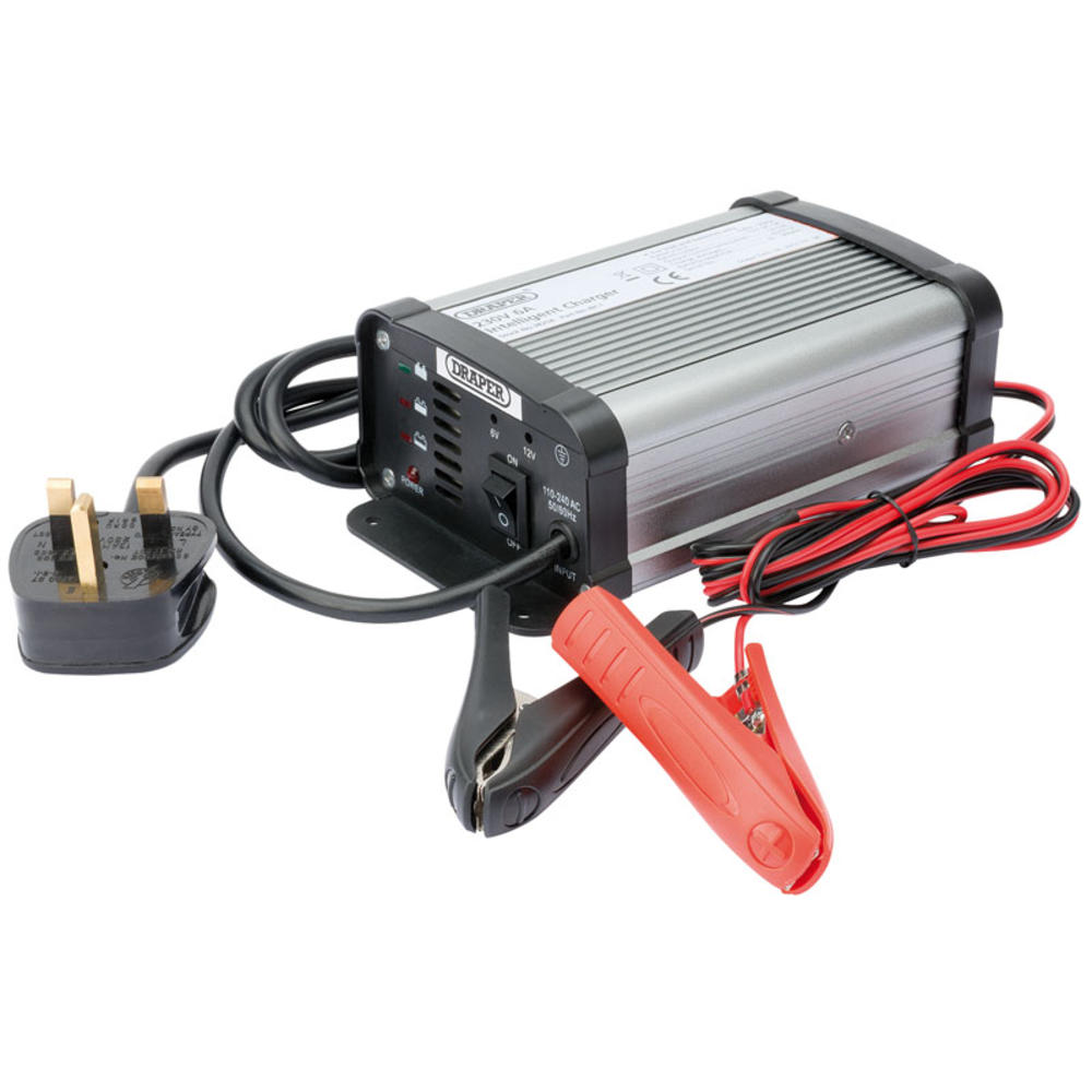 Draper 38254 IBC1 6/12V 6A Intelligent Battery Charger