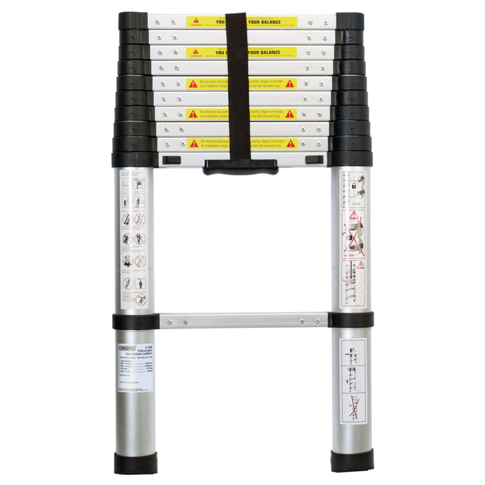 Draper 52366 TL11/A 11 Rung Aluminium Telescopic Ladder To EN131
