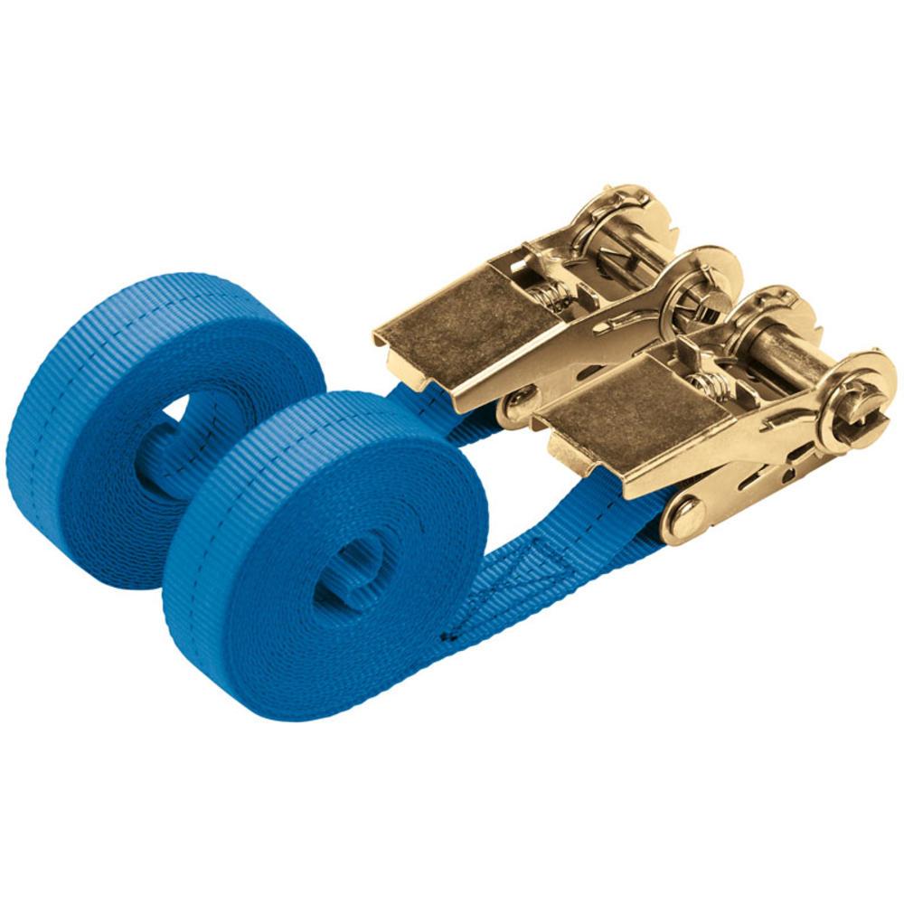 Draper 60968 RTDS400B2/B 4.5M 350Kg Ratchet Tie Down Strap (2 Pack)