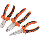 Draper 15385 Soft Grip Pliers Set (Orange) (3 Piece)