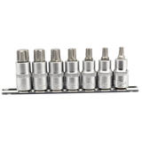 "Draper 16341 H-TXP/7/50 Expert 1/2"" Sq. Dr. Tx Star Plus Socket Bit Set (7 Pc)"