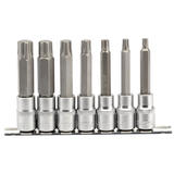 "Draper 16342 H-TXP/7/100 Expert 1/2"" Sq. Dr. Tx Star Plus Socket Bit Set (7 Pc)"