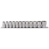 "Draper 16402 HD12MM 1/2"" Sq. Dr. Socket Set On Metal Rail (12 Pc)"
