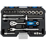 "Draper 16442 1/4"" Sq. Dr. Metric Socket Set (20 Pc)"