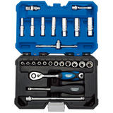 "Draper 16443 B25MN/SG Expert 1/4"" Sq. Dr. Metric Socket Set (25 Pc)"