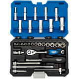 "Draper 16444 B30MN/SG Expert 1/4"" Sq. Dr. Metric Socket Set (30 Piece)"