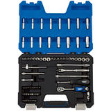 "Draper Expert Socket Set 16448 1/4"" Sq. Dr. MM/AF Combined Socket Set (75 Piece)"