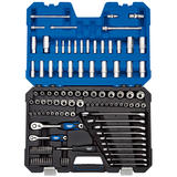 "Draper Expert Socket Set 16459 1/4"" and 3/8"" Sq. Dr. Combined MM/AF (114 Pc)"