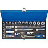"Draper 16470 D27M/MC/SG Expert 3/8"" Sq. Dr. Metric Socket Set In Metal Case (27 Pc)"