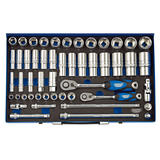 "Draper 16475 TK50M/MC/SG Expert 3/8"" and 1/2"" Sq. Dr. Metric Socket Set (50 Pc)"