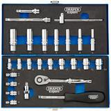 """Draper 16476 B26M/MC/B Expert 1/4"""" Sq. Dr. Metric Socket Set (26 Piece)"""