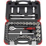 """Draper 16836 1/2"""" Sq. Dr. MM/AF Combination Socket Set (41 Piece)"""