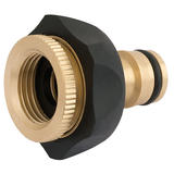 "Draper 24646 Brass and Rubber Tap Connector (1/2"" - 3/4"")"
