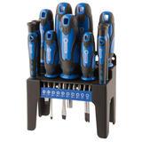 Draper 29865 864/21/B Screwdriver Set Blue Handles (21 Piece)