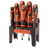 Draper 29886 864/21/O Screwdriver Set Orange Handles (21 Piece)