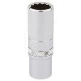 "Draper 32965 Expert 3/8"" Square Drive Hi-Torq 12 Point Deep Socket (15mm)"