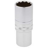 """Draper 33802 HT-MM/B Expert 1/2"""" Square Drive Hi-Torq 12 Point Deep Socket (24mm)"""