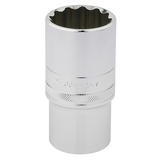 """Draper 33858 HT-MM/B Expert 1/2"""" Square Drive Hi-Torq 12 Point Deep Socket (30mm)"""