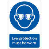 Draper 72080 SS03 Eye Protection  Sign Notice