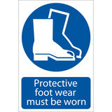 Draper 72089 SS04 Protective Footwear Sign Notice
