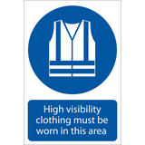 Draper 72097 SS05 Hi-Visibility Clothing  Sign Notice