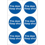 Draper 72112 SS07 6 x Fire Door Keep Shut  Sign Notice