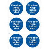 Draper 72120 SS08 6 x Fire Door Keep Locked  Sign Notice