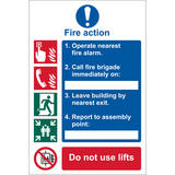 Draper 72154 SS10 Fire Action Procedure  Sign Notice