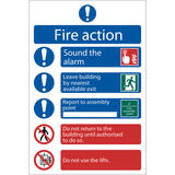 Draper 72156 SS11 Fire Action Procedure  Sign Notice