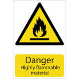 Draper 72352 SS23 Danger Flammable Material Hazard Sign Notice