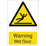 Draper 72439 SS26 Warning Wet Floor Hazard Sign Notice
