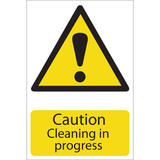 Draper 72440 SS27 Caution Cleaning Hazard Sign Notice