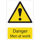 Draper 72441 SS28 Danger Men At Work Hazard Sign Notice