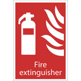 Draper 72442 SS29 Fire Extinguisher Fire Equipment Sign Notice