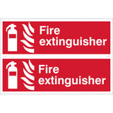 Draper 72444 SS30 2 x Fire Extinguisher Fire Equipment Sign Notice