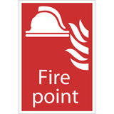 Draper 72445 SS31 Fire Point Fire Equipment Sign Notice