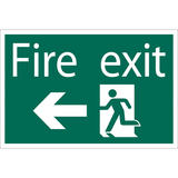Draper 72448 SS34 Fire Exit Arrow Left Safety Sign Notice
