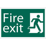 Draper 72449 SS35 Fire Exit Right Safety Sign Notice