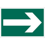 Draper 72451 SS37 Arrow Symbol Safety Sign Notice