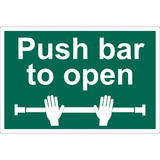 Draper 72454 SS38 Push Bar To Open Safety Sign Notice