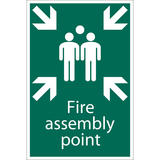 Draper 72463 SS40 Fire Assembly Point Safety Sign Notice