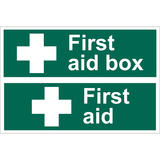 Draper 72542 SS42 First Aid Box Safety Sign Notice