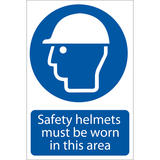 Draper 72869 SS48 Safety Helmet Must Be Worn  Sign Notice