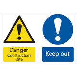 Draper 72915 SS52 Danger Construction Site Hazard Sign Notice