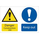 Draper 72915 SS52 Danger Construction Site Hazard Sign Notice
